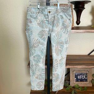 Cabi Tropical Straight Leg Size 4